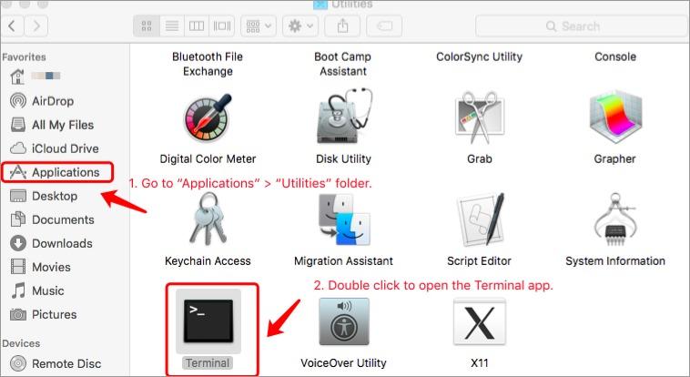 Open Terminal App