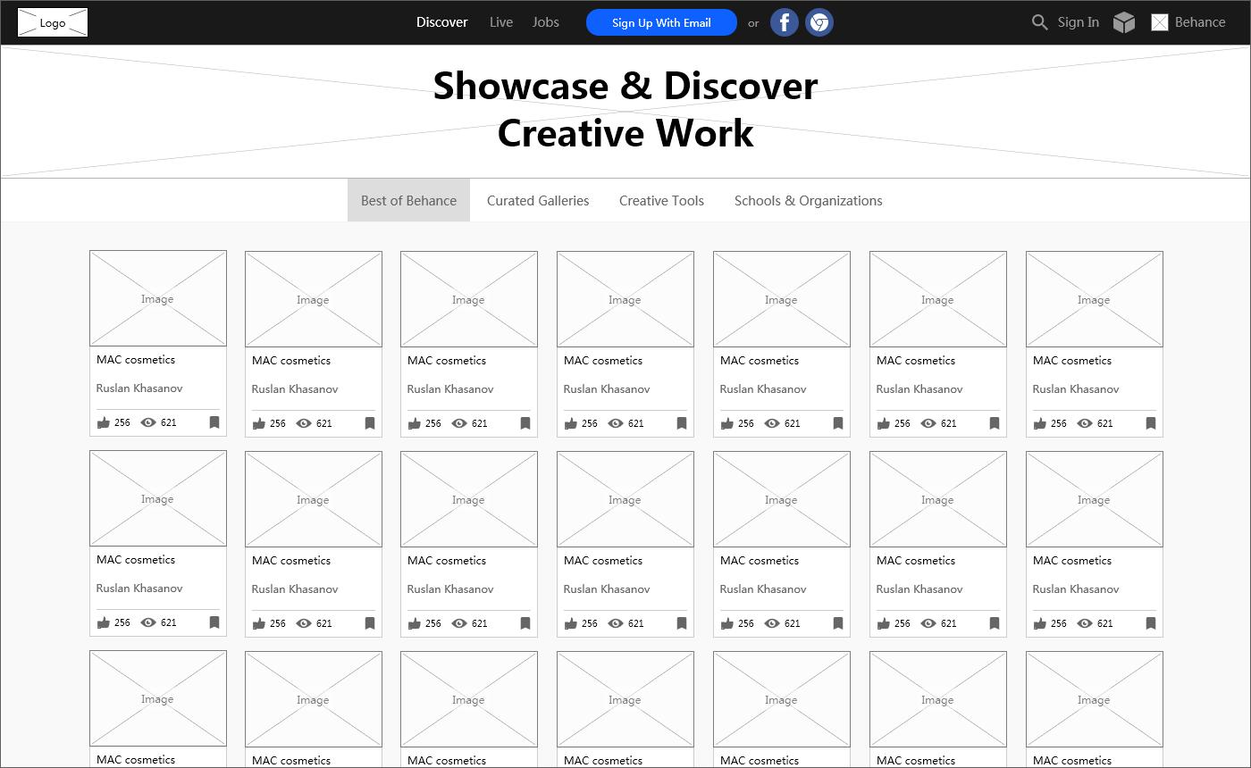 Behance Web Design Community
