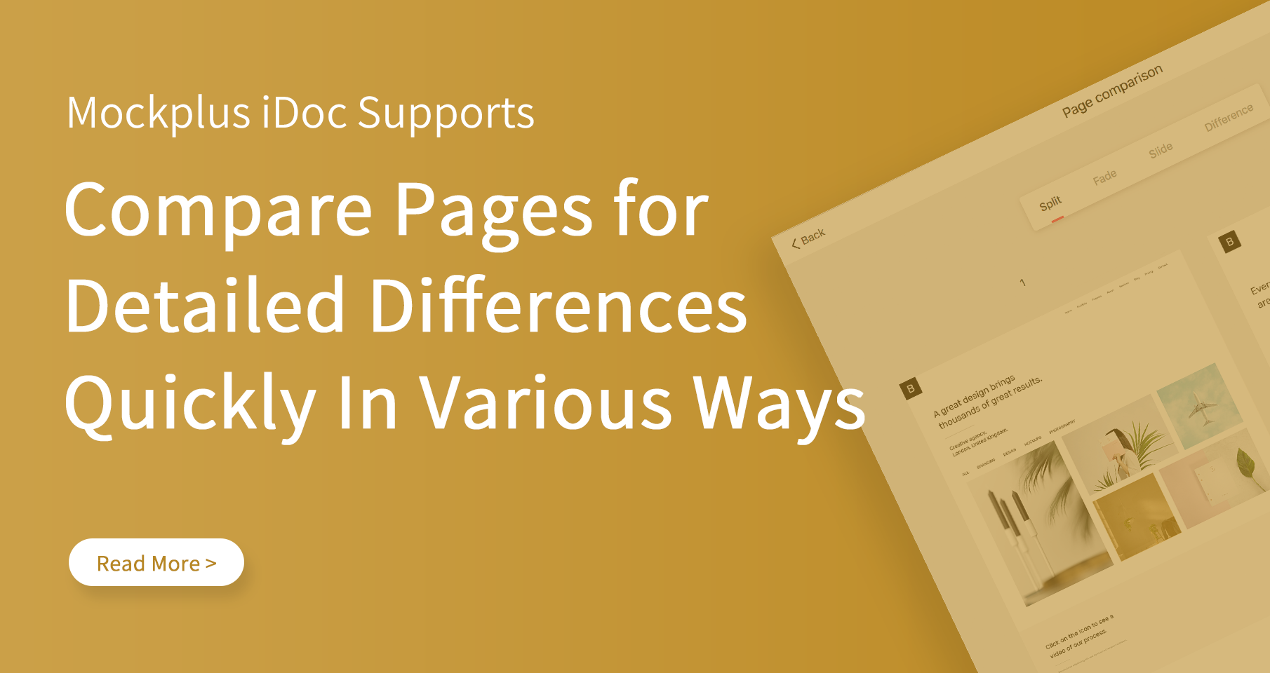 Compare Design Pages for Detailed Differences Quickly in Mockplus iDoc