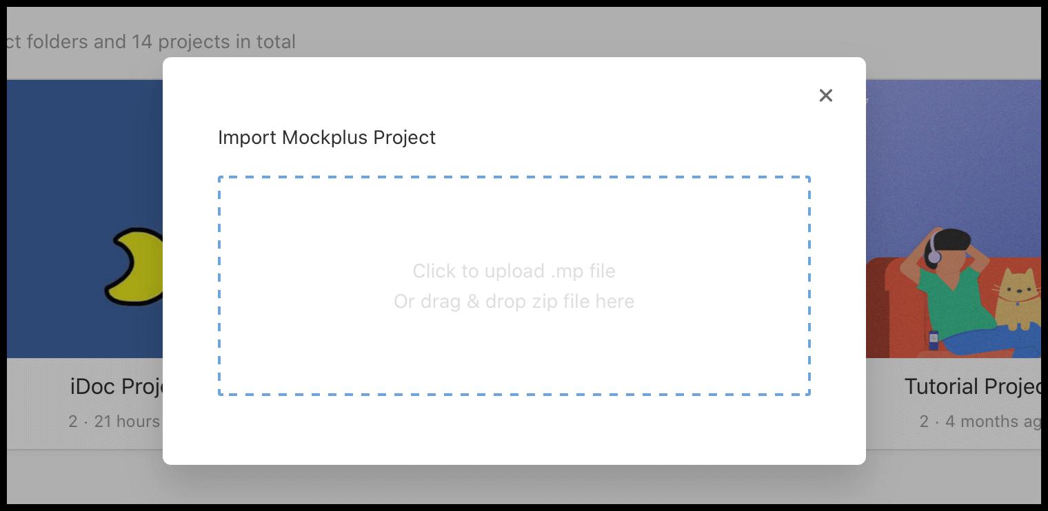 Upload Mockplus Prototypes