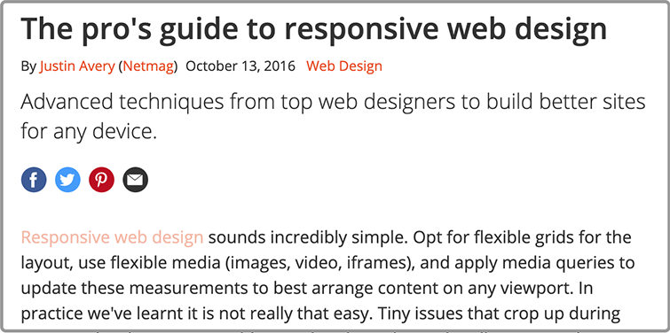 Pro guide to responsive web design