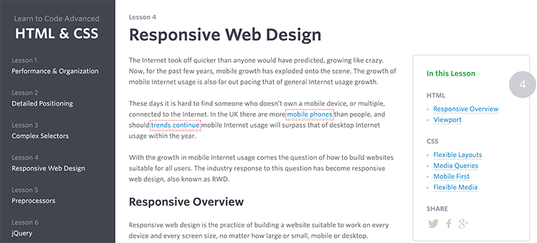 Responsive Web Design with HTML&CSS