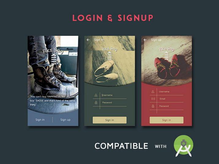 Free Login Signup Background