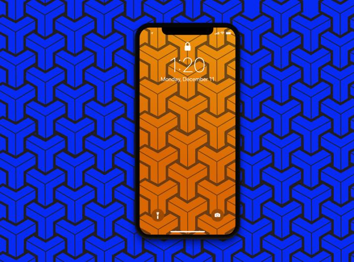 Geometric Shape Mobile App Background Pattern