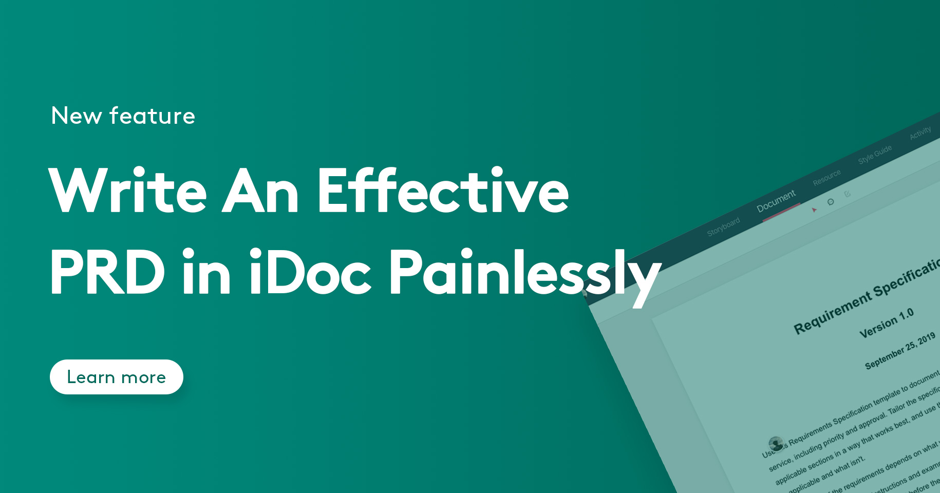 Write An Effective PRD in iDoc Painlessly