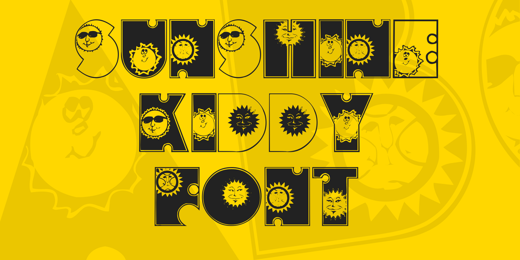 Free Sunshine Kiddy Fun Font