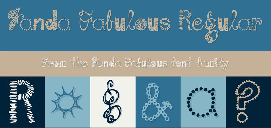 Free Janda Fabulous Fun Font