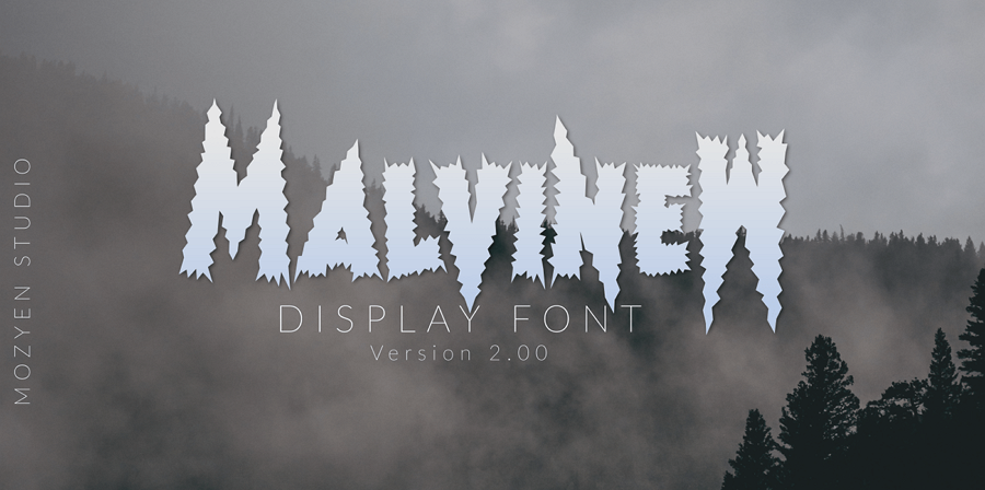 MalvinW Display Font