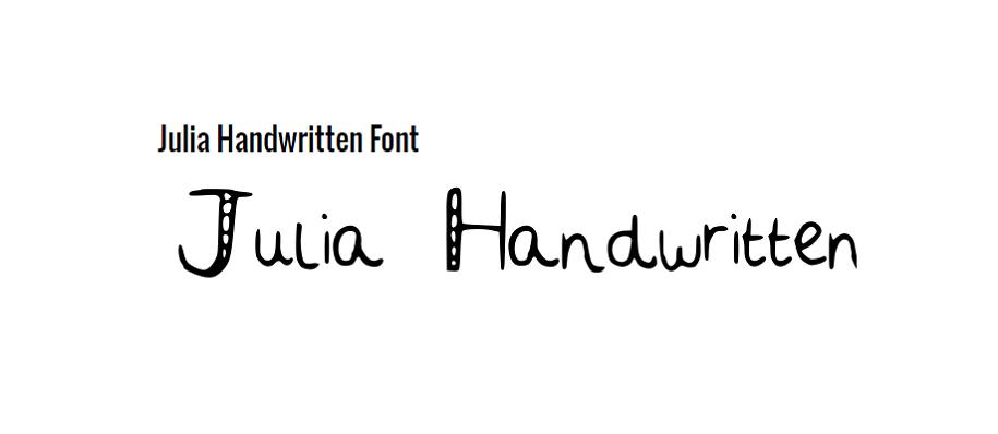 Free Julia Handwritten Bold Font