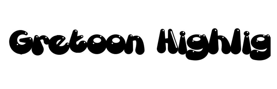Free Gretoon Highlight Bold Font