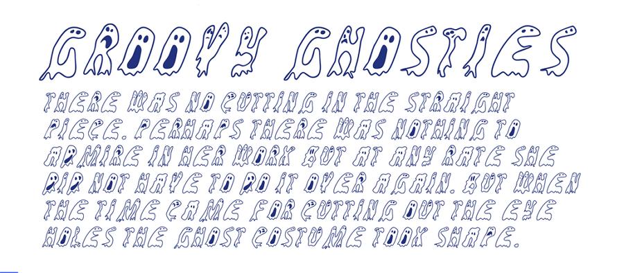Free Groovy Ghosties Font