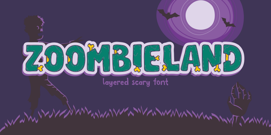 Free Zoombieland font