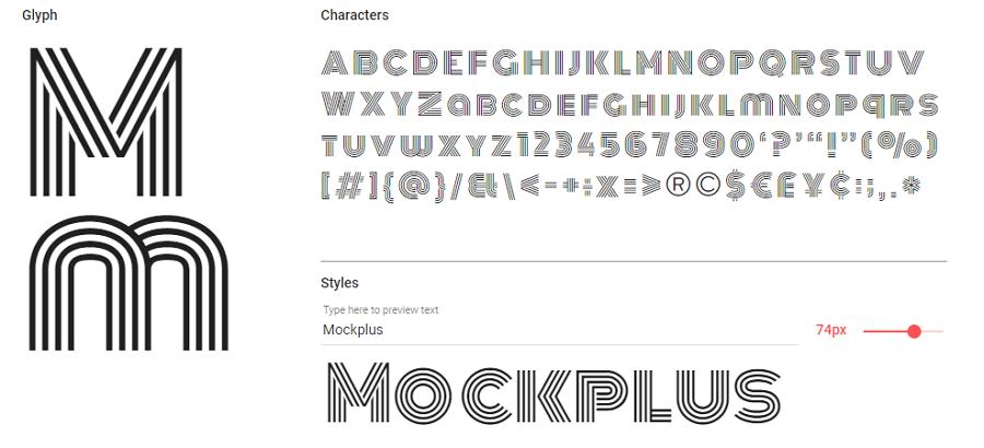 Free Monoton Font