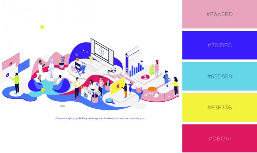 Illustrated Website Color Scheme