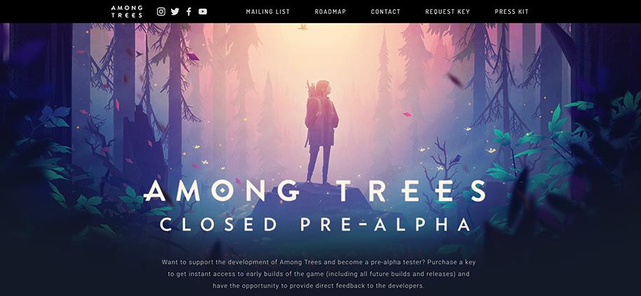 Among trees game