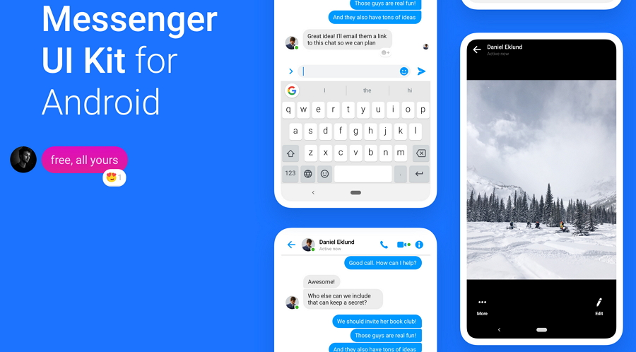 Free Facebook Messenger UI Kit for Android