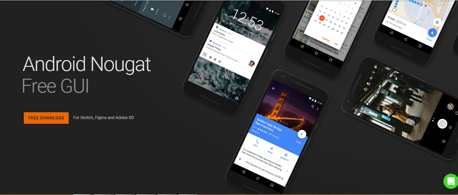 Android Nougat UI Kit for Sketc