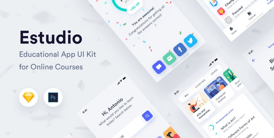 Educational Mobile App UI Kit