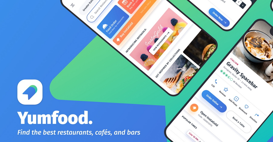 YumFood Mobile App UI Kit