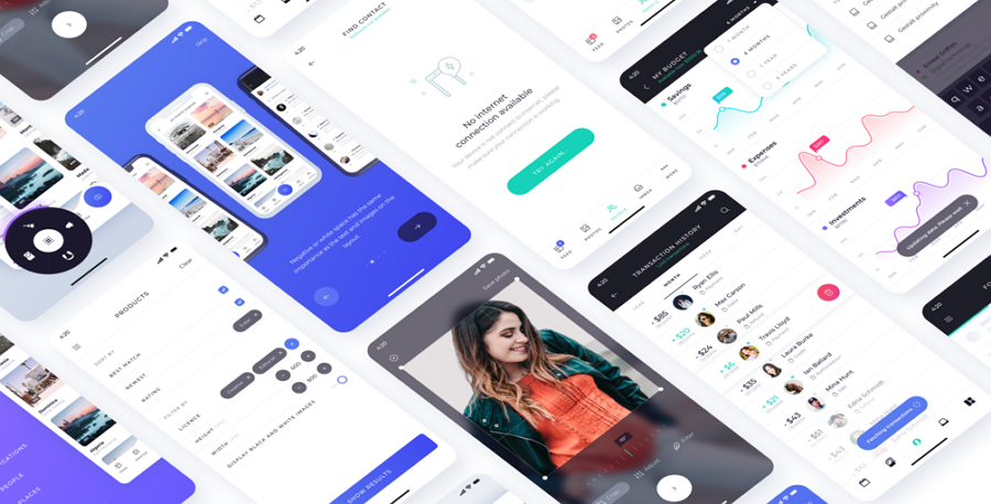 Atro Mobile UI Kit Freebie for Android & iOS