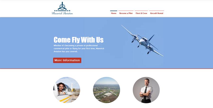 Flight School Free Educational Website Template