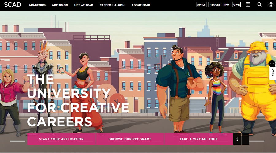 SCAD Education Website Example