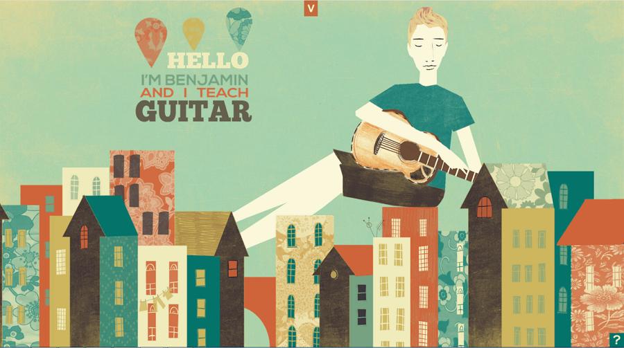 Benjamin Brooks Guitar Personal Education Website Template
