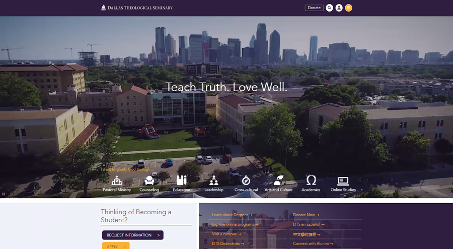 Dellas Technological Seminary Education Website Example