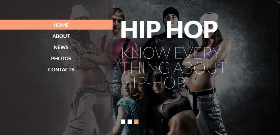 Streat Dance Responsive Website Template