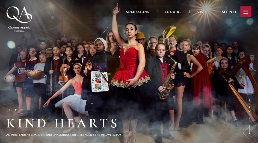 Queen Anne's School Education Website Example
