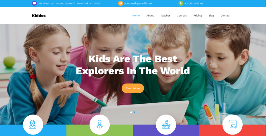 Kiddos Free Bootstrap Primary School Website Template