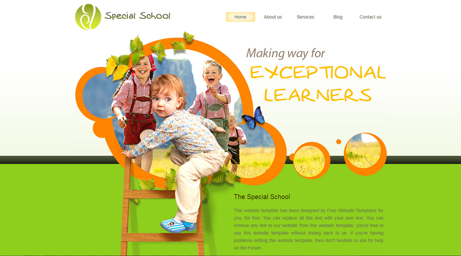 Special School Free HTML5/CSS Education Website Template