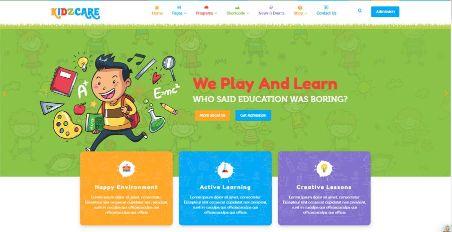 Children Day Care Kindergarten HTML5 Website Template