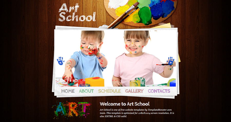 Art School Free HTML5/CSS Education Website Template
