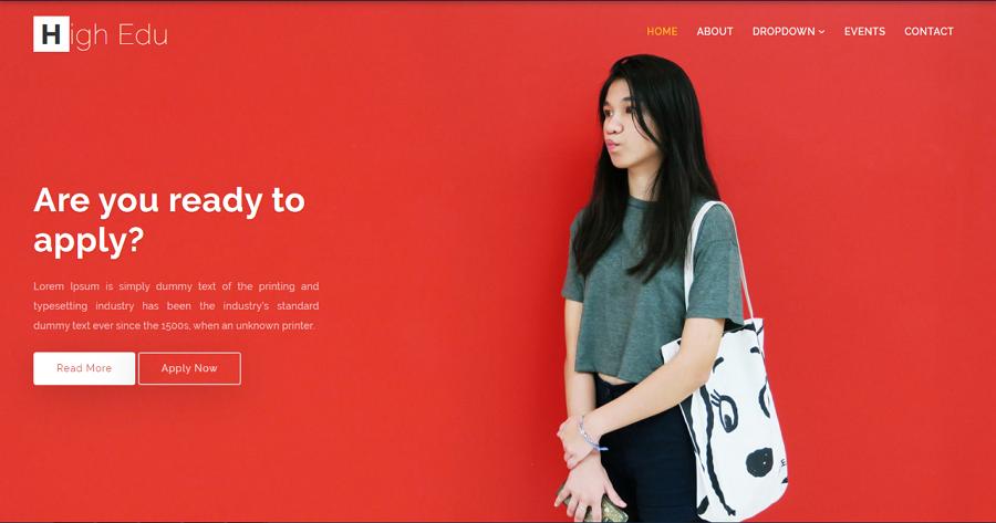 High Edu Free HTML5/CSS3 Education School Website Template