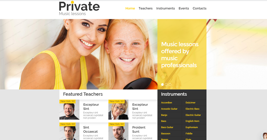 Online Music Education website Template