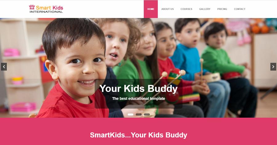 Smart Kids Free Bootstrap School Education Website Template