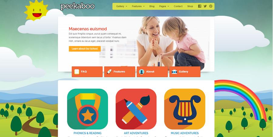 Peekaboo Children School Website Template