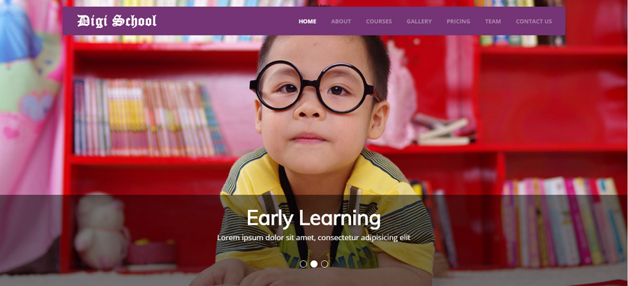 Digi School Free HTML Education Website Template