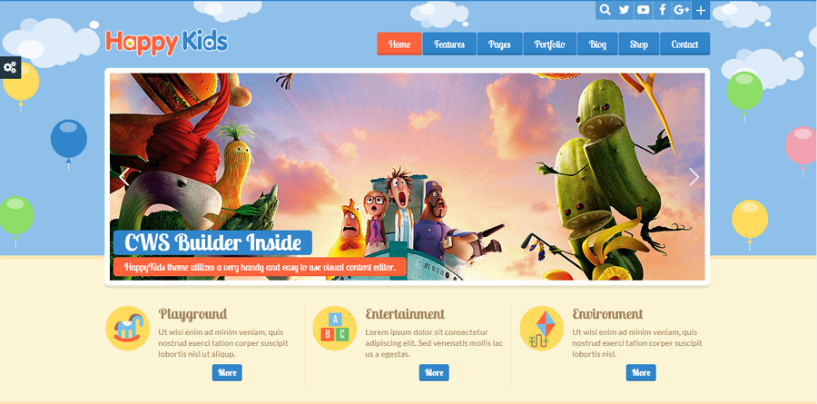 Happy Kids HTNMML5/CSS3 Education Website template