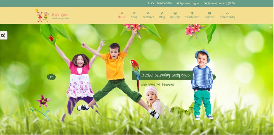 Kids Zone Website Template