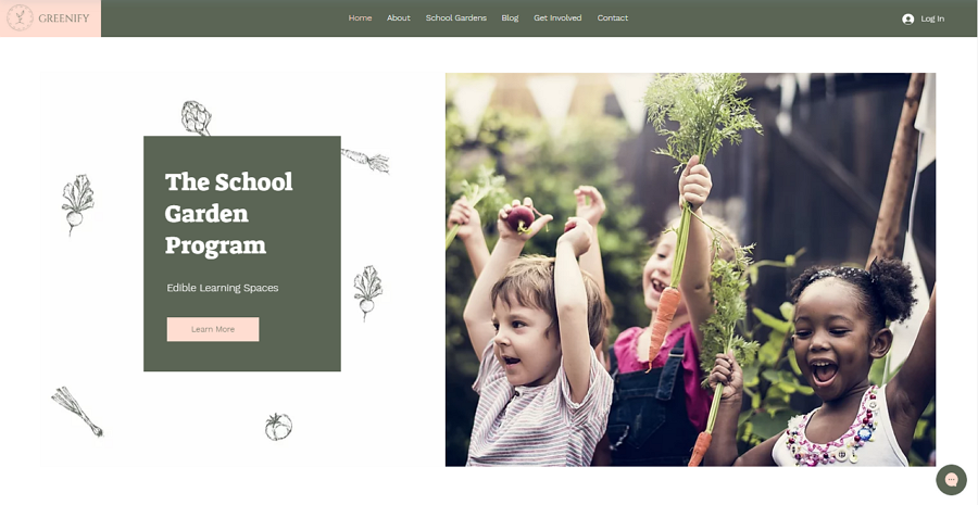 School Garden Program Free Education Website Template