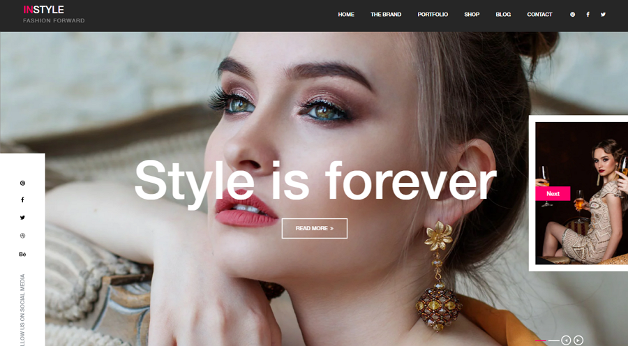 Free Instylr Bootstrap Website Template