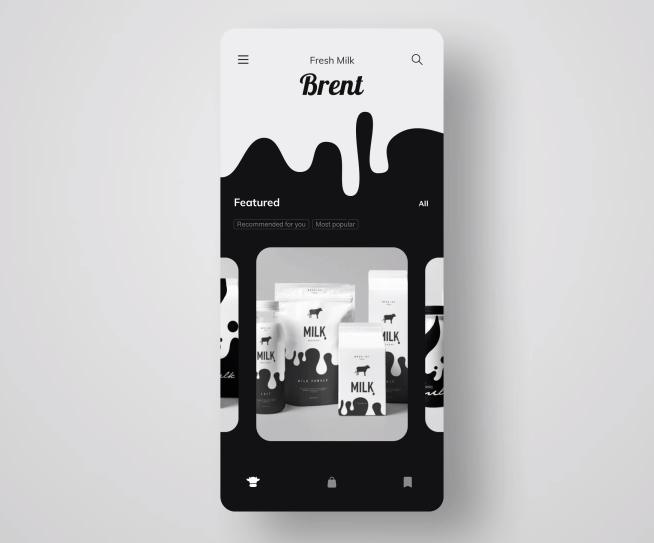 Milk Online Store app