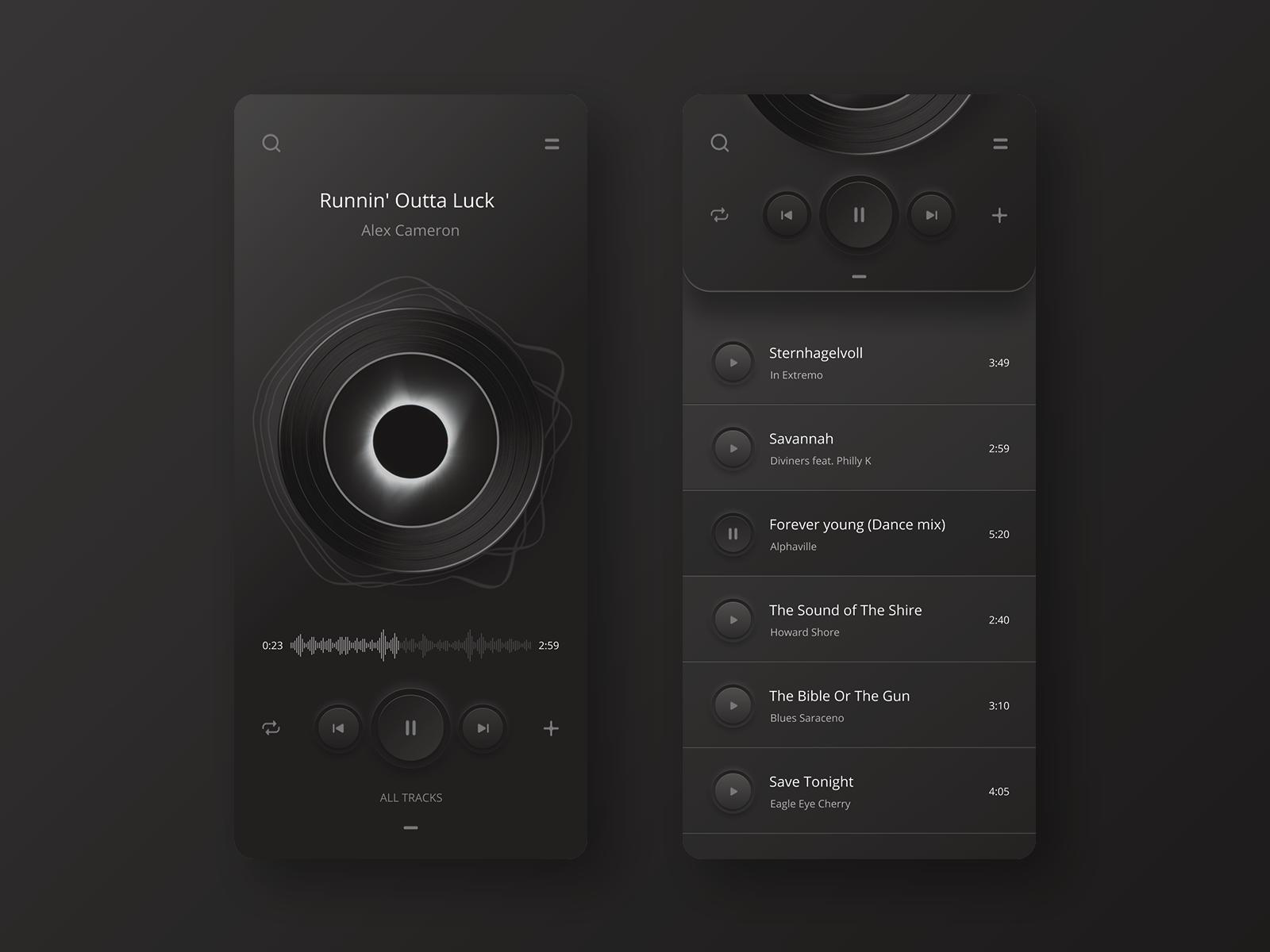 Player App Night version