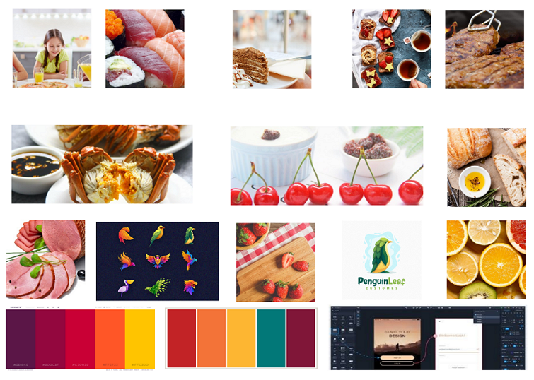 Website Design Mood Board Made in Mockplus