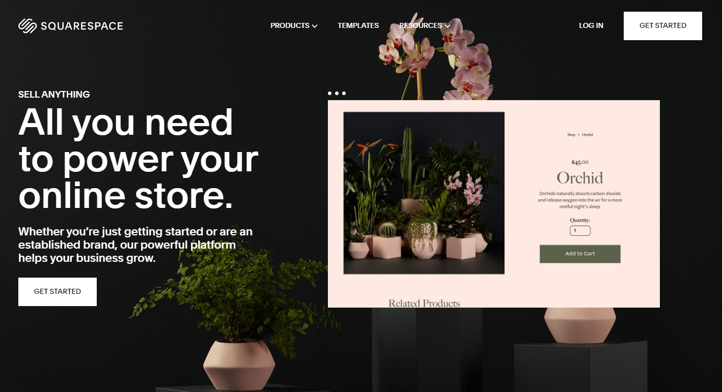 Squarespace Website Template Carousel