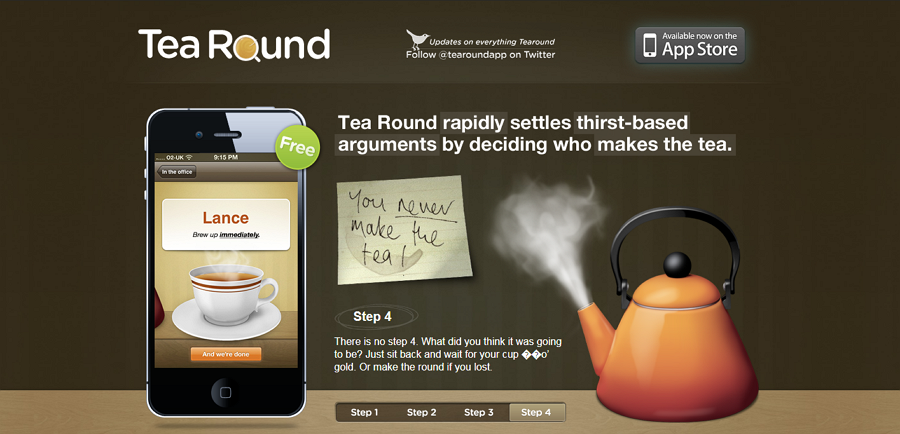 Tea Round Home Page Step Slider