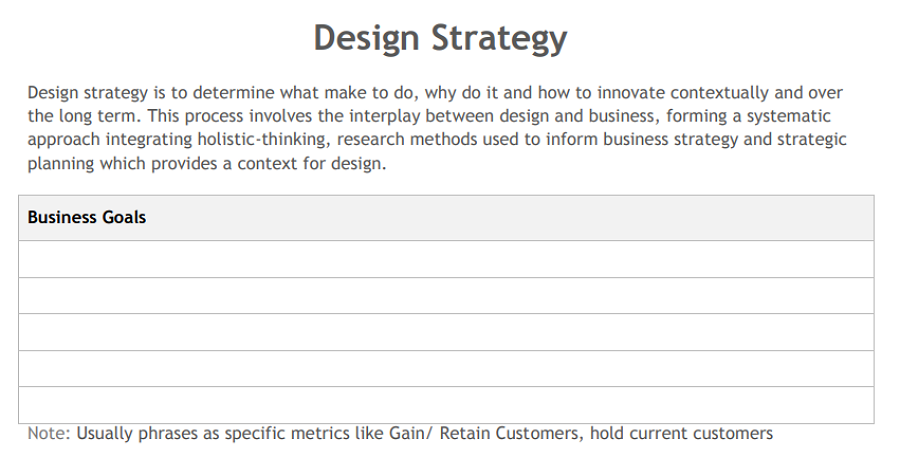 Best free design strategy template