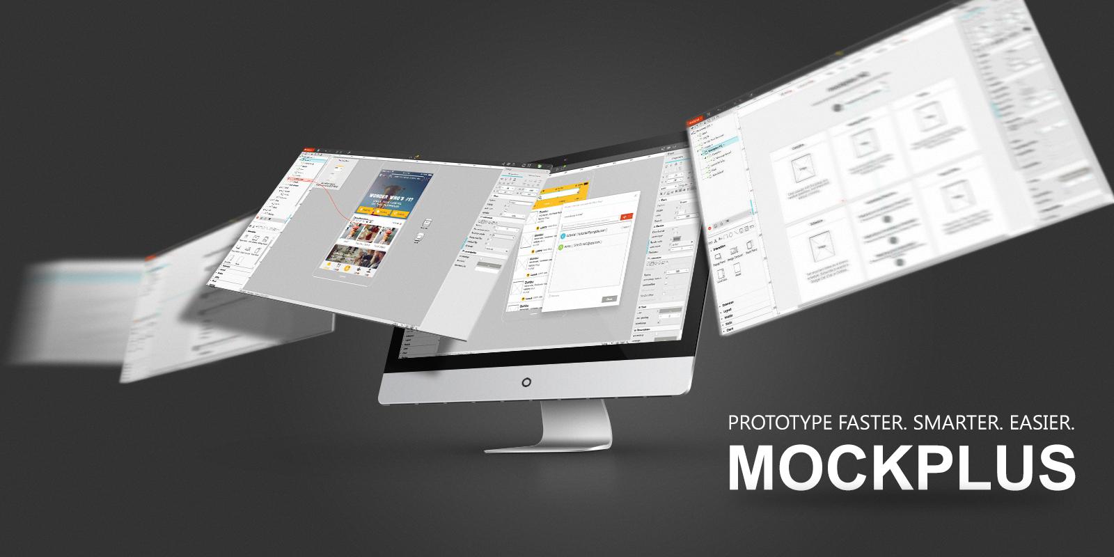 Website mockup for mobile devices in Mockplus